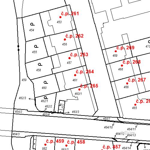 Katastrální mapa Stavební objekt České Budějovice 6 264, České Budějovice
