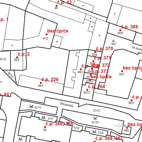 Katastrální mapa Stavební objekt Bohušovice nad Ohří 125, Bohušovice nad Ohří