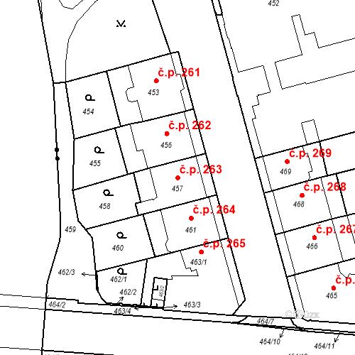 Katastrální mapa Stavební objekt České Budějovice 6 263, České Budějovice