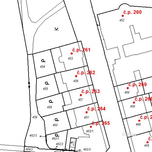 Katastrální mapa Stavební objekt České Budějovice 6 262, České Budějovice