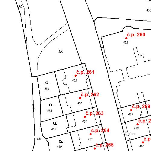 Katastrální mapa Stavební objekt České Budějovice 6 261, České Budějovice