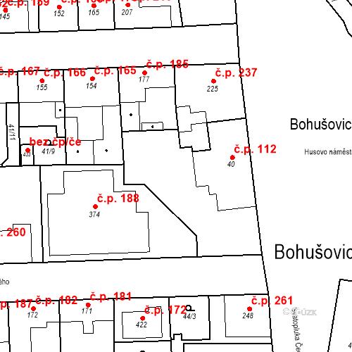 Katastrální mapa Stavební objekt Bohušovice nad Ohří 112, Bohušovice nad Ohří