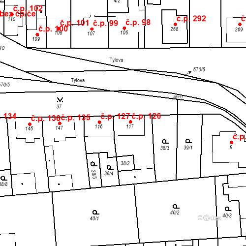 Katastrální mapa Stavební objekt Bohušovice nad Ohří 126, Bohušovice nad Ohří