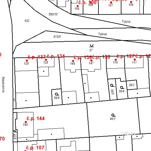 Katastrální mapa Stavební objekt Bohušovice nad Ohří 136, Bohušovice nad Ohří