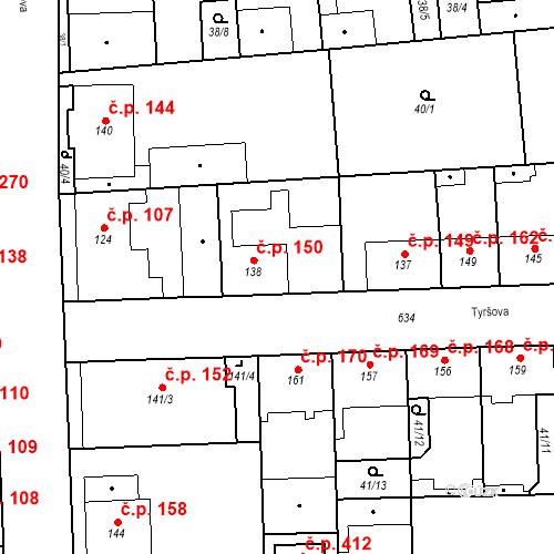 Katastrální mapa Stavební objekt Bohušovice nad Ohří 150, Bohušovice nad Ohří