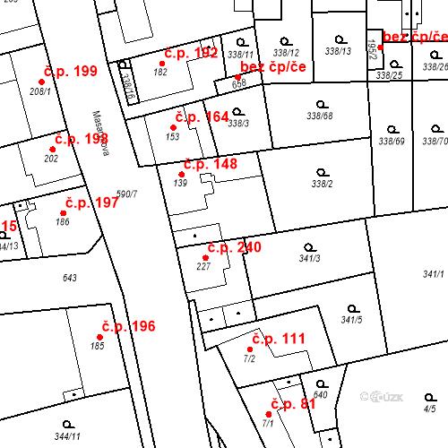 Katastrální mapa Stavební objekt Bohušovice nad Ohří 148, Bohušovice nad Ohří