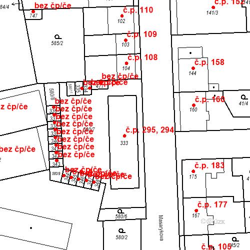Katastrální mapa Stavební objekt Bohušovice nad Ohří 294, Bohušovice nad Ohří