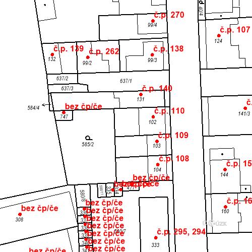 Katastrální mapa Stavební objekt Bohušovice nad Ohří 110, Bohušovice nad Ohří