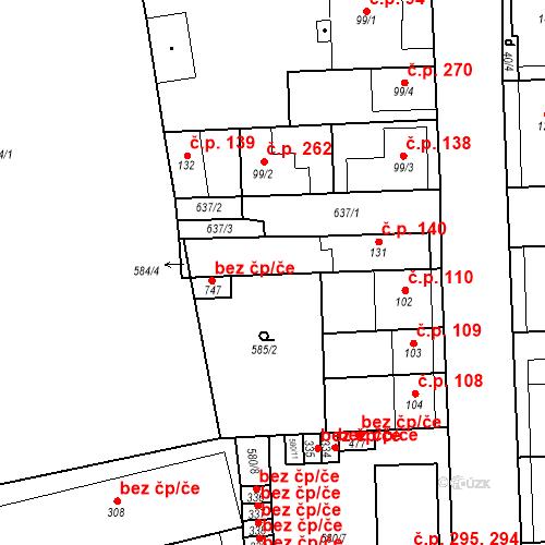 Katastrální mapa Stavební objekt Bohušovice nad Ohří 140, Bohušovice nad Ohří