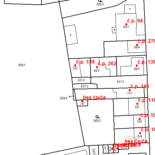 Katastrální mapa Stavební objekt Bohušovice nad Ohří 139, Bohušovice nad Ohří