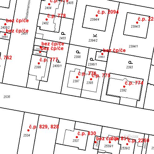 Katastrální mapa Stavební objekt České Budějovice 3 776, České Budějovice
