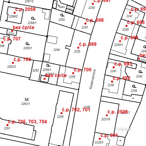 Katastrální mapa Stavební objekt České Budějovice 3 700, České Budějovice