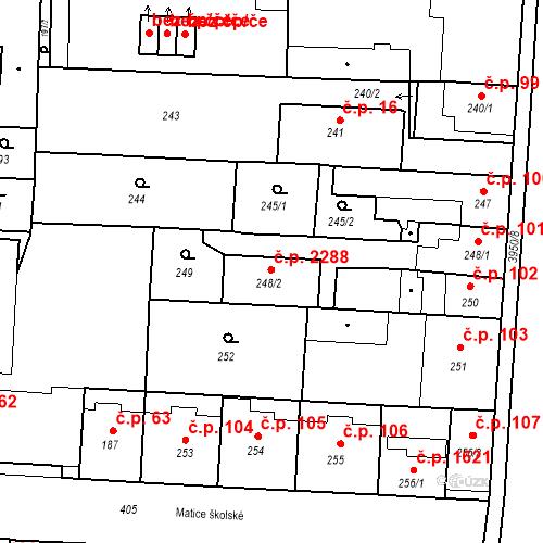 Katastrální mapa Stavební objekt České Budějovice 7 2288, České Budějovice