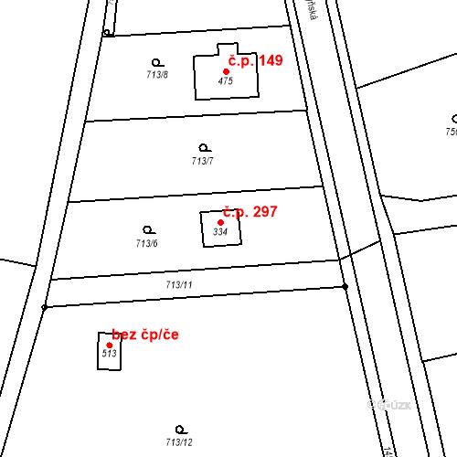 Katastrální mapa Stavební objekt Bernartice 297, Bernartice