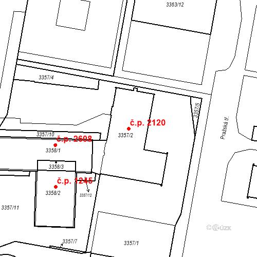 Katastrální mapa Stavební objekt České Budějovice 3 2120, České Budějovice