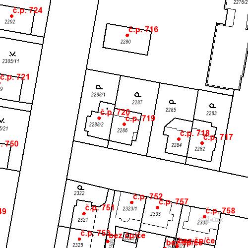 Katastrální mapa Stavební objekt České Budějovice 3 719, České Budějovice