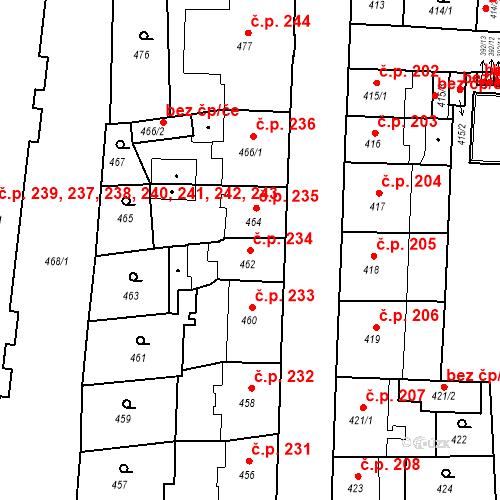 Katastrální mapa Stavební objekt České Budějovice 7 234, České Budějovice