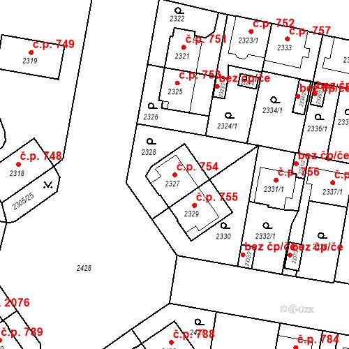 Katastrální mapa Stavební objekt České Budějovice 3 754, České Budějovice
