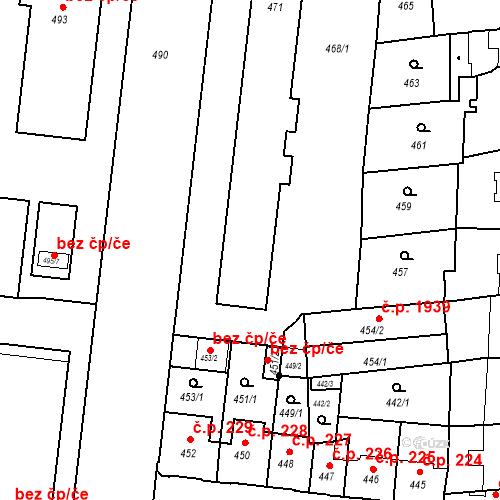 Katastrální mapa Stavební objekt České Budějovice 7 237, 238, 239, 240, 241, České Budějovice