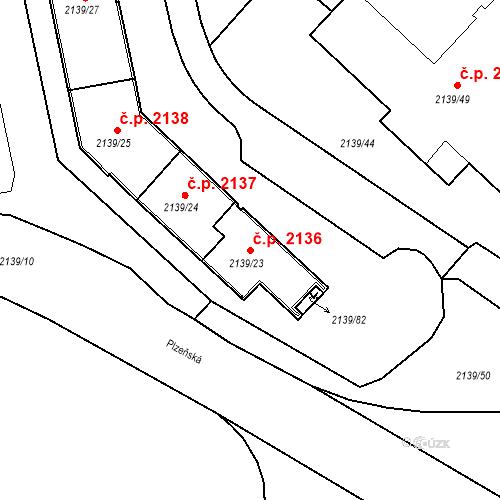 Katastrální mapa Stavební objekt České Budějovice 3 2136, České Budějovice