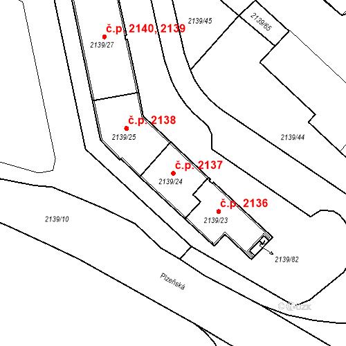 Katastrální mapa Stavební objekt České Budějovice 3 2137, České Budějovice