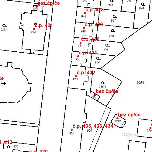 Katastrální mapa Stavební objekt České Budějovice 7 432, České Budějovice