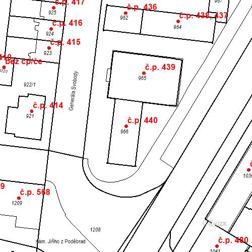 Katastrální mapa Stavební objekt České Budějovice 7 440, České Budějovice