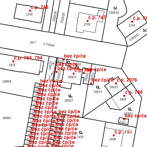 Katastrální mapa Stavební objekt České Budějovice 3 790, České Budějovice