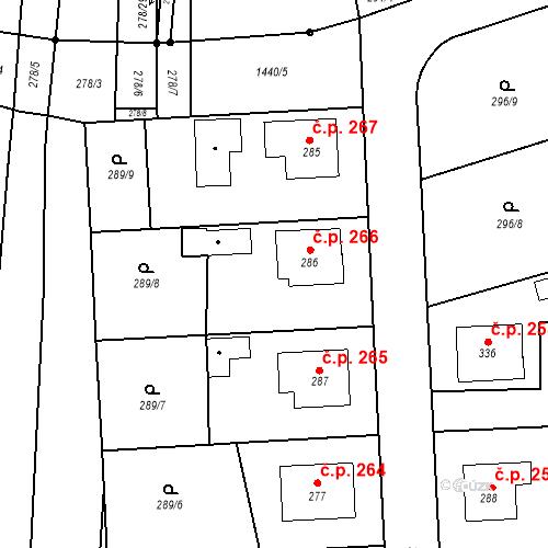Katastrální mapa Stavební objekt Bernartice 266, Bernartice