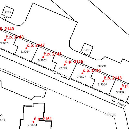 Katastrální mapa Stavební objekt České Budějovice 3 2145, České Budějovice