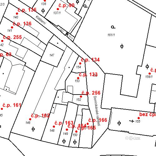 Katastrální mapa Stavební objekt Litoměřice-Město 133, Litoměřice