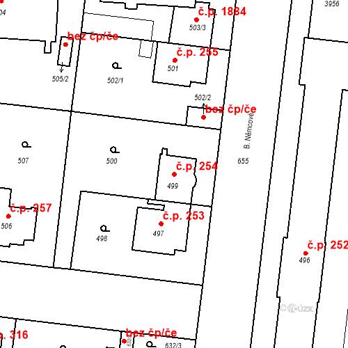 Katastrální mapa Stavební objekt České Budějovice 7 254, České Budějovice