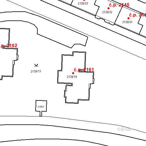 Katastrální mapa Stavební objekt České Budějovice 3 2161, České Budějovice