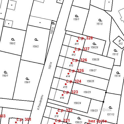 Katastrální mapa Stavební objekt Bernartice 326, Bernartice