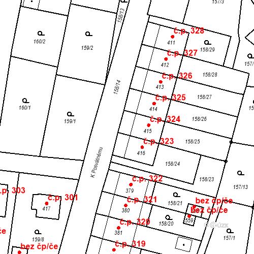 Katastrální mapa Stavební objekt Bernartice 324