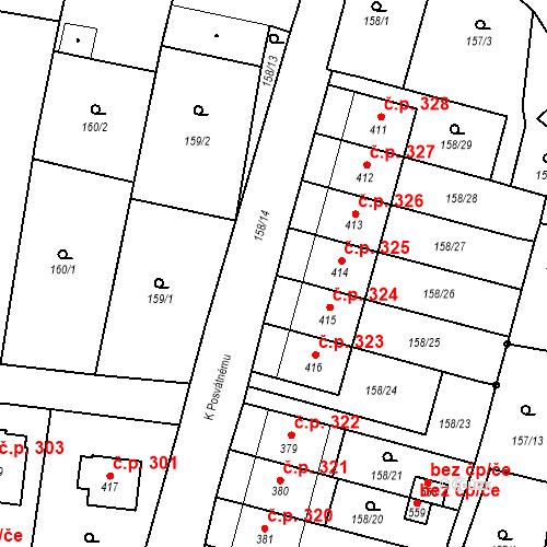 Katastrální mapa Stavební objekt Bernartice 325, Bernartice