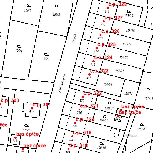 Katastrální mapa Stavební objekt Bernartice 323, Bernartice