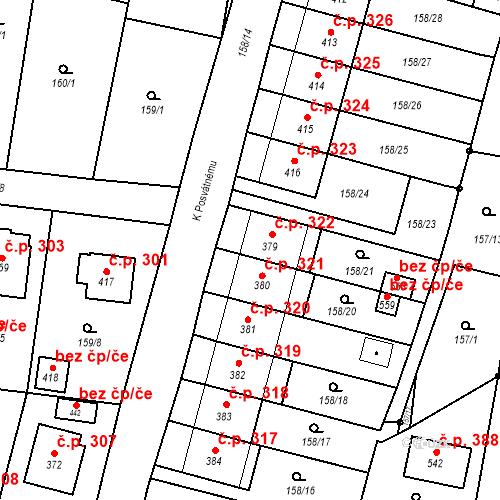Katastrální mapa Stavební objekt Bernartice 322, Bernartice