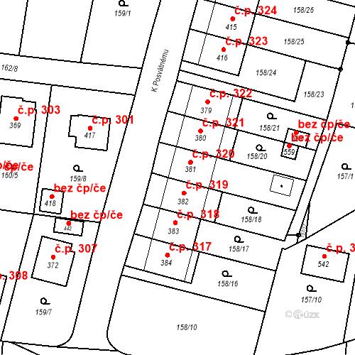 Katastrální mapa Stavební objekt Bernartice 320, Bernartice