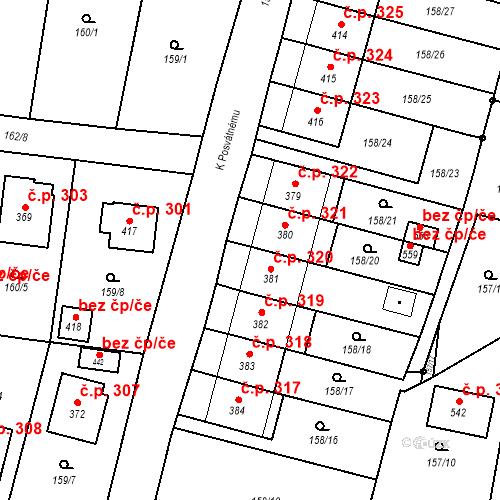 Katastrální mapa Stavební objekt Bernartice 321, Bernartice