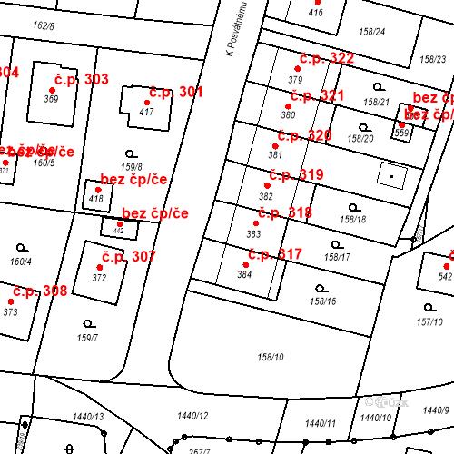 Katastrální mapa Stavební objekt Bernartice 318, Bernartice