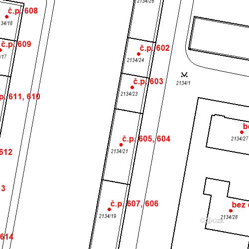 Katastrální mapa Stavební objekt České Budějovice 3 604, České Budějovice