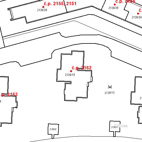 Katastrální mapa Stavební objekt České Budějovice 3 2162, České Budějovice