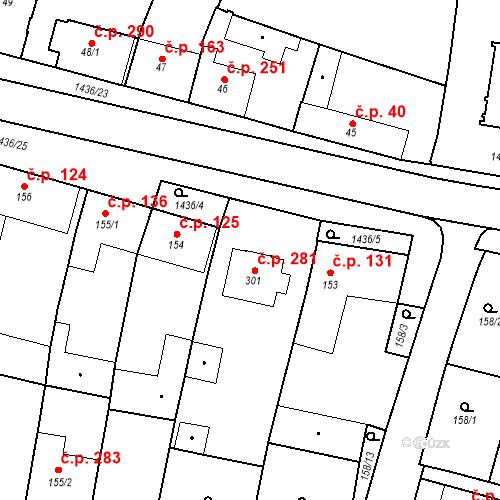 Katastrální mapa Stavební objekt Bernartice 281, Bernartice