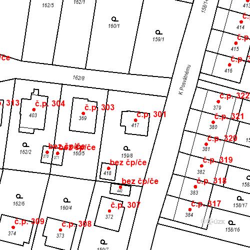 Katastrální mapa Stavební objekt Bernartice 301, Bernartice