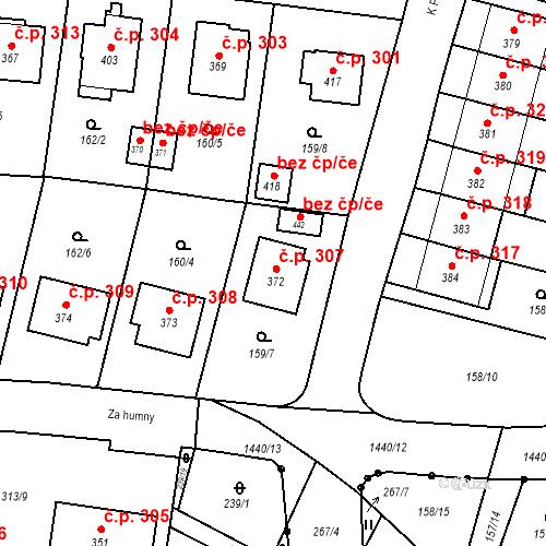 Katastrální mapa Stavební objekt Bernartice 307, Bernartice