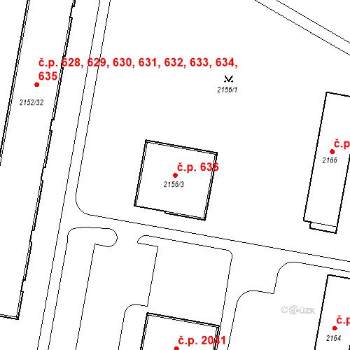 Katastrální mapa Stavební objekt České Budějovice 3 636, České Budějovice