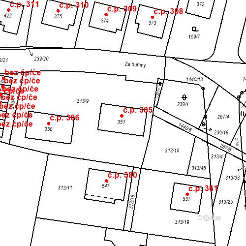 Katastrální mapa Stavební objekt Bernartice 306, Bernartice