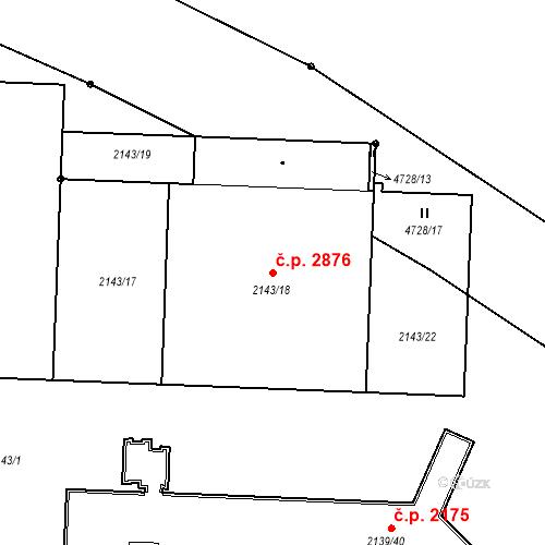 Katastrální mapa Stavební objekt České Budějovice 3 2876, České Budějovice