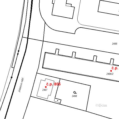 Katastrální mapa Stavební objekt České Budějovice 3 804, České Budějovice